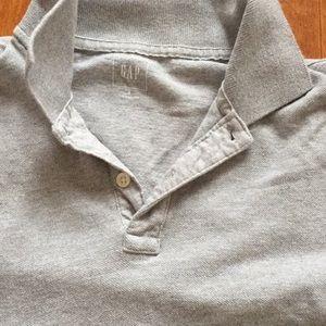 Gap Gray Polo Shirt Size Small Short Sleeves